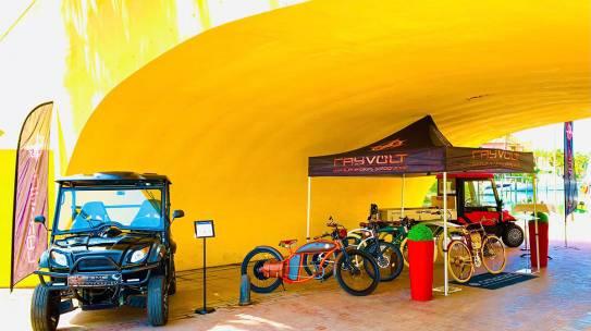 Rayvolt e-bikes at Sotogrande Craft Market every Sunday